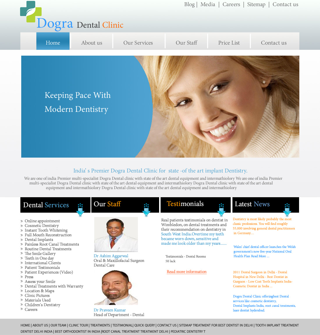 Website for Dental Clinic